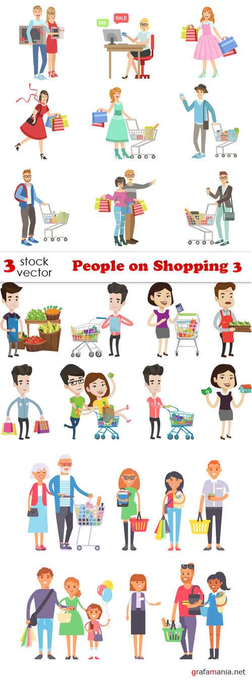 Vectors - People on Shopping 3