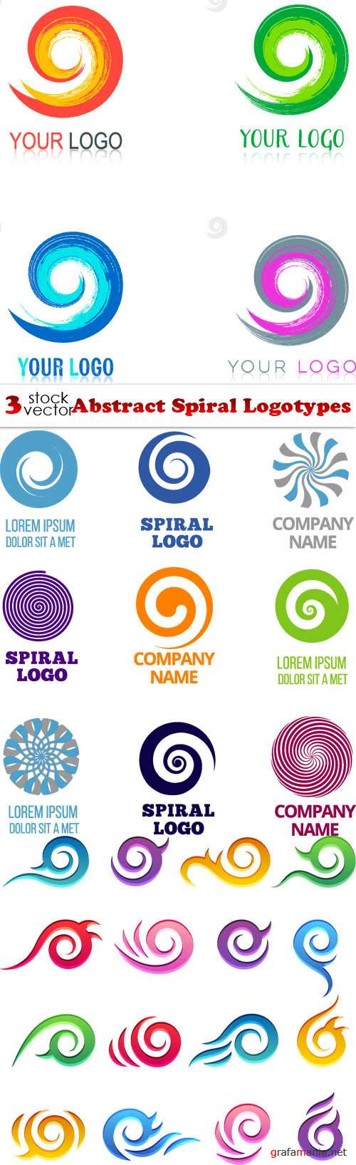 Vectors - Abstract Spiral Logotypes