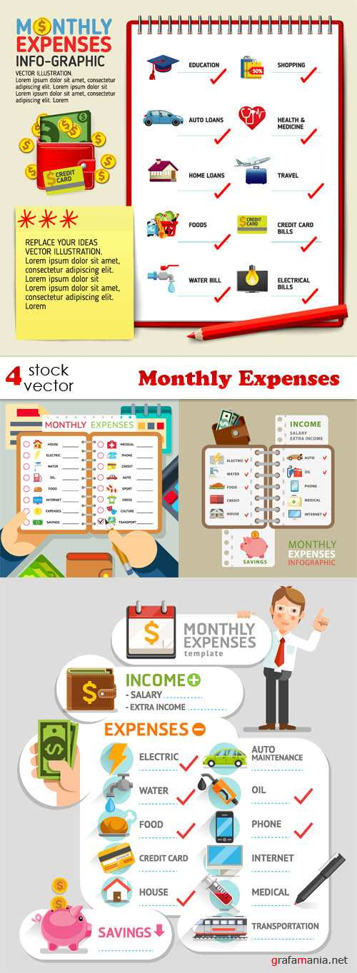 Vectors - Monthly Expenses