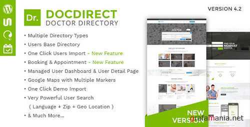 ThemeForest - DocDirect v4.2 - Responsive Directory WordPress Theme for Doctors and Healthcare Profession - 16089820