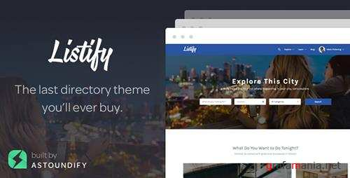 ThemeForest - Listify v1.10.0 - WordPress Directory Theme - 9602611