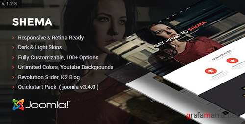 ThemeForest - Shema v1.28 - Creative One Page Joomla Template - 7900636