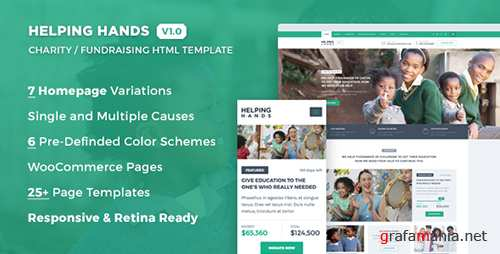 ThemeForest - Helping Hands - Charity / NonProfit / Fund Raising HTML Template (Update: 3 June 16) - 16087334