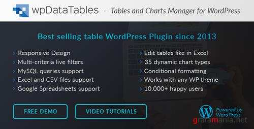 CodeCanyon - wpDataTables v1.7.2 - Tables and Charts Manager for WordPress - 3958969