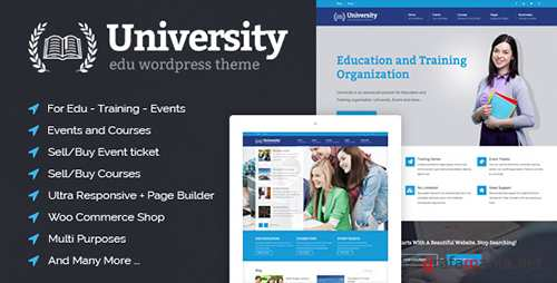 ThemeForest - University v2.0.19 - Education, Event and Course Theme - 8412116