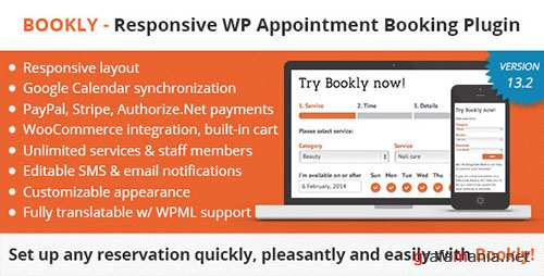 Bookly Booking Plugin v13.2 - Responsive Appointment Booking and Scheduling - 7226091