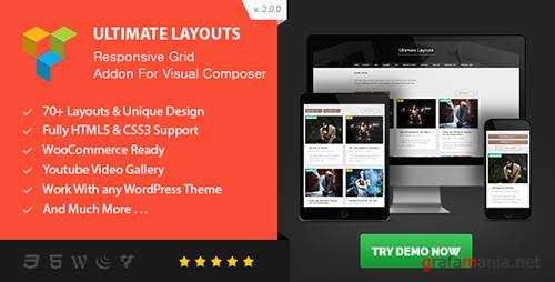 CodeCanyon - Ultimate Layouts - Responsive Grid & Youtube Video Gallery - Addon For Visual Composer v2.0.0 - 17454996