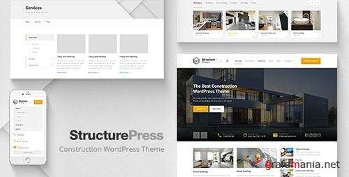 ThemeForest - StructurePress v1.8.0 - Construction and Architecture WordPress Theme - 13743206