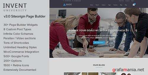 ThemeForest - Invent v3.2 - Education Course College WordPress Theme - 9263796