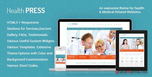 ThemeForest - HealthPress v1.7.1 - Health and Medical WordPress Theme - 3138064