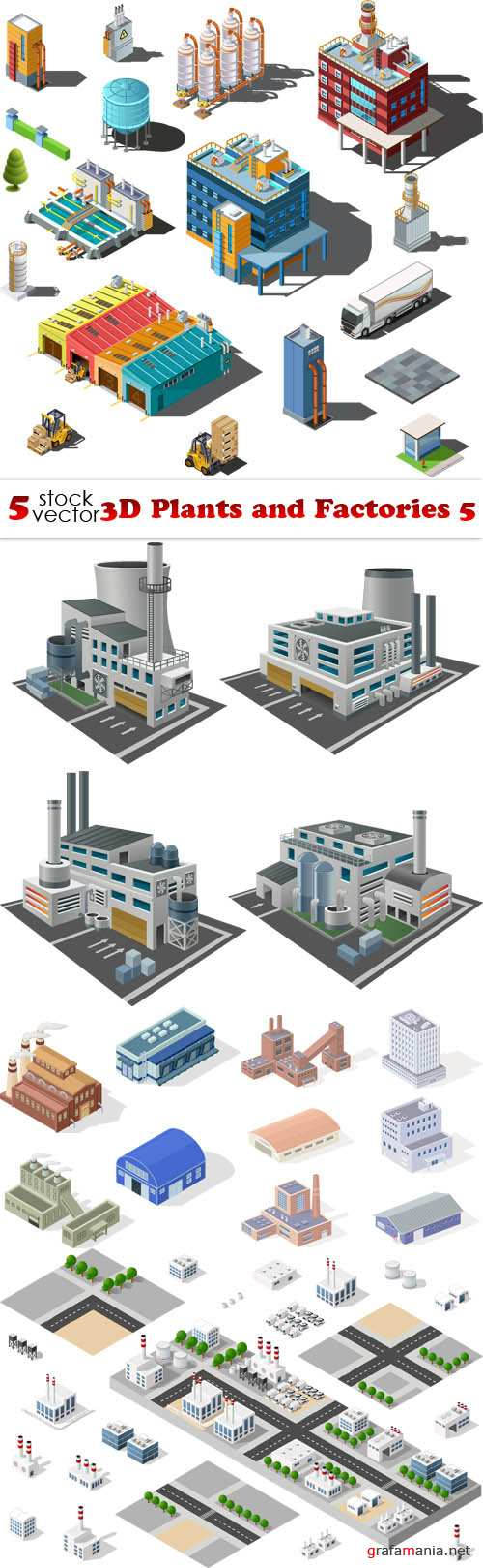 Vectors - 3D Plants and Factories 5