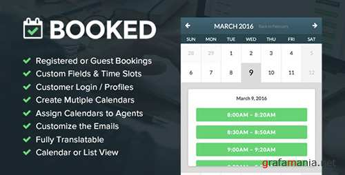 CodeCanyon - Booked v1.9.10 - Appointment Booking for WordPress - 9466968