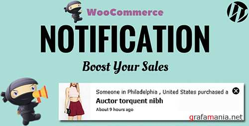 CodeCanyon - WooCommerce Notification v1.1.3 - Boost Your Sales - 16586926
