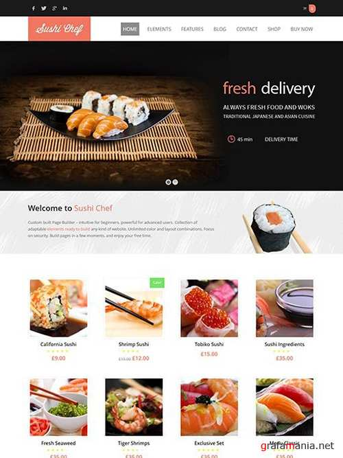 Ait-Themes - Sushi v1.94 - Food Delivery WordPress Theme