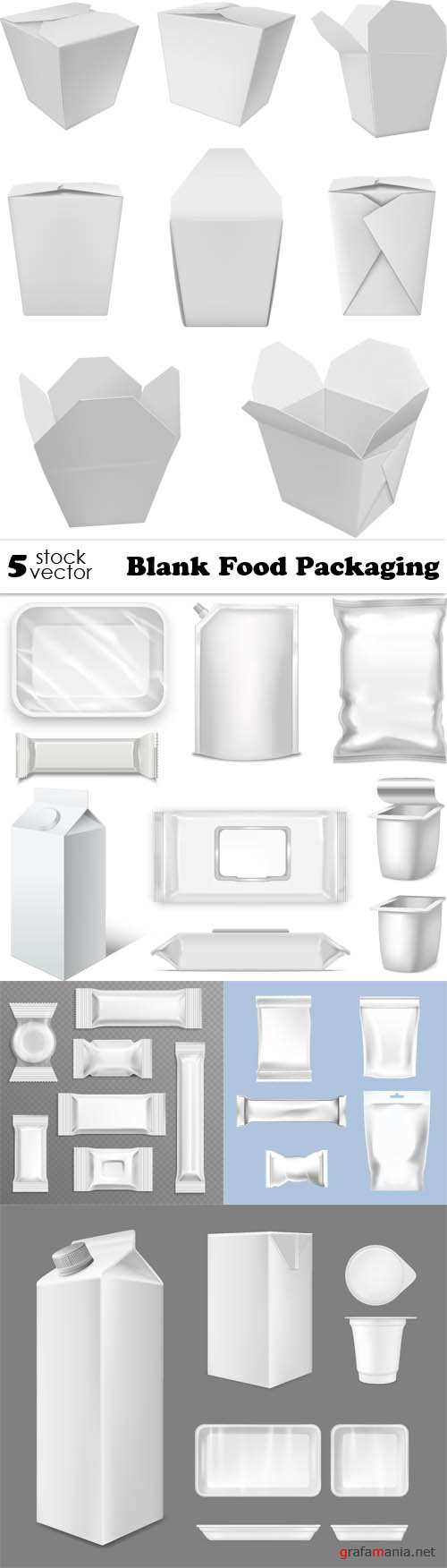Vectors - Blank Food Packaging