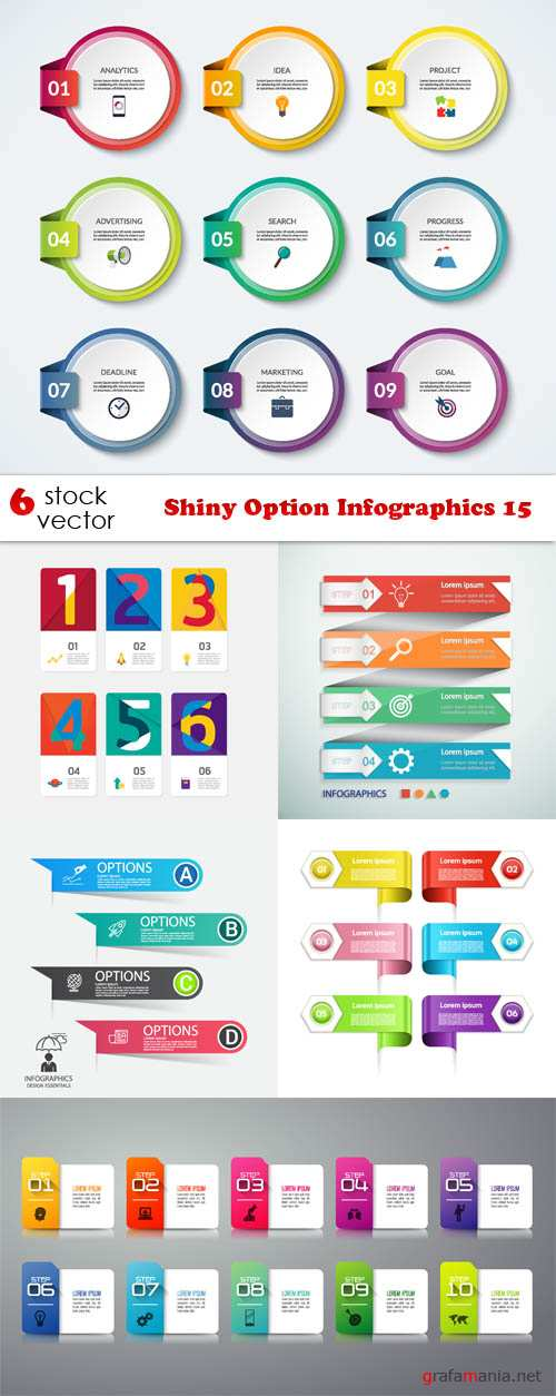 Vectors - Shiny Option Infographics 15