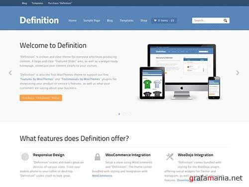 WooCommerce - Definition v1.5.9 - WordPress Theme