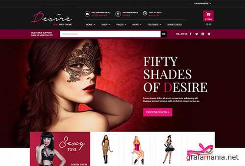 YiThemes - YITH Desire Sexy Shop v1.1.1 - Intriguing WordPress Theme