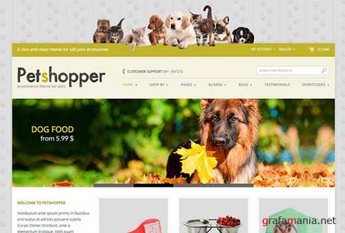 YiThemes - YITH Petshopper v1.5.2 - Ecommerce Theme For Pets Products