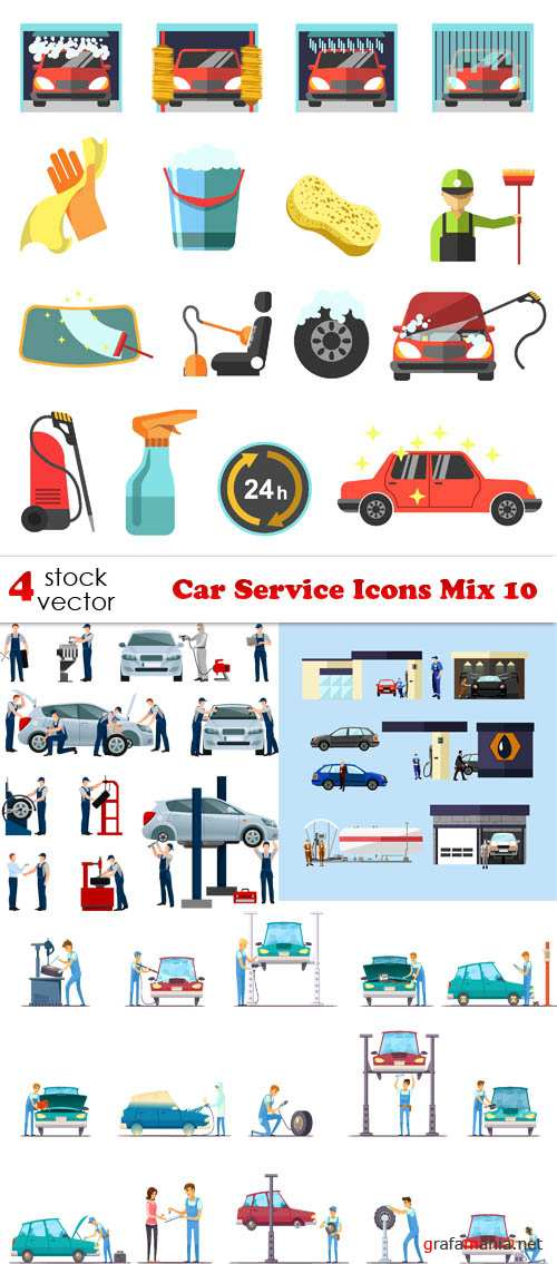 Vectors - Car Service Icons Mix 10