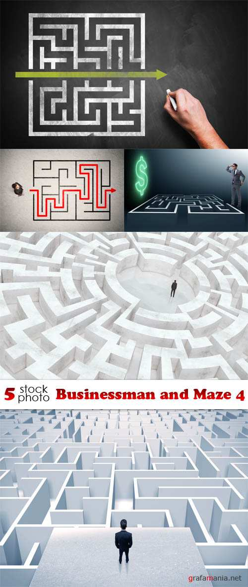 Photos - Businessman and Maze 4