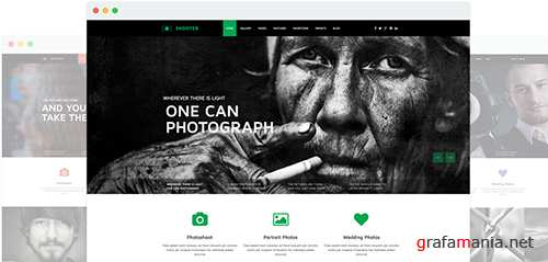 JoomShaper - Shooter v1.4 - Clean Photography Portfolio Joomla Template