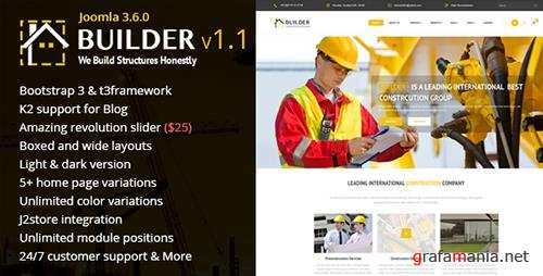 ThemeForest - Builder v1.1 - Building & Construction Joomla Template (Update: 20 January 17) - 14509343