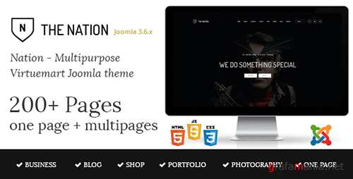 ThemeForest - Nation v1.1 - Multipurpose Virtuemart Joomla Template - 15920743