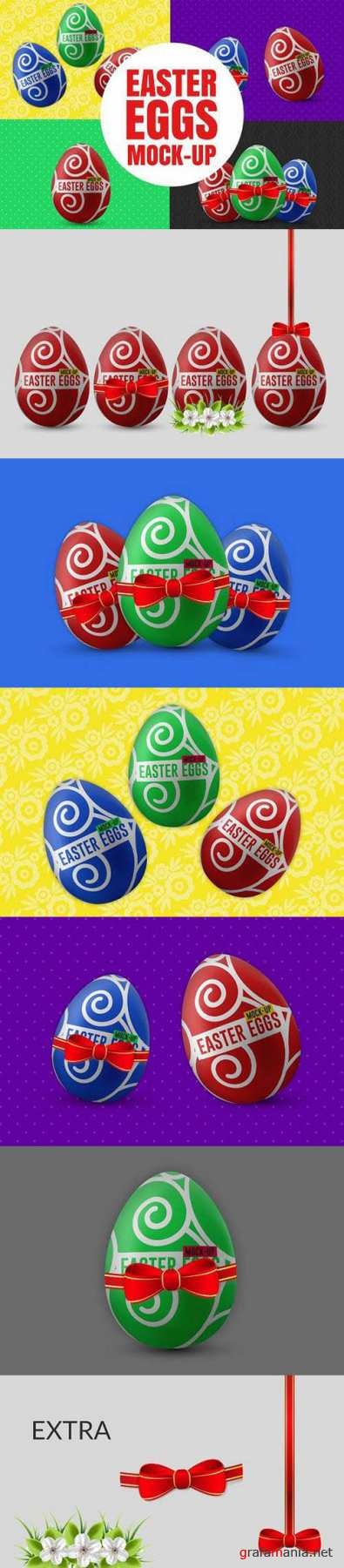 Easter Eggs Mock-Up 1354400