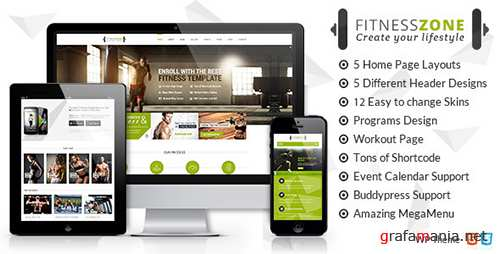 ThemeForest - Fitness Zone v2.7 - Gym & Fitness Theme, perfect fit for fitness centers and Gyms - 10612256