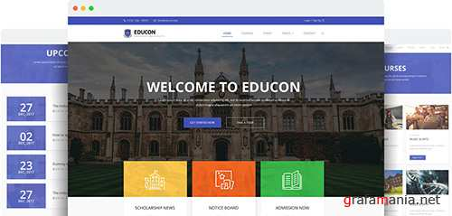 JoomShaper - Educon v1.2 - Modern Responsive Joomla Template for University, College & School