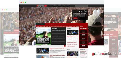 JoomShaper - SportsOn v1.4 - Mega Sports Template for Joomla