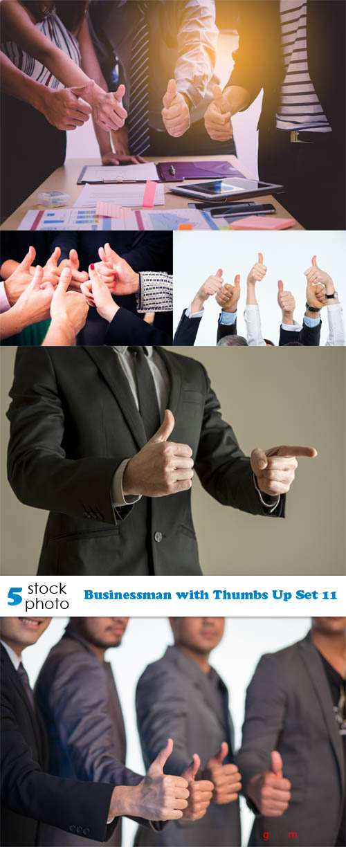 Photos - Businessman with Thumbs Up Set 11