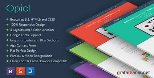 ThemeForest - Opic! - Flat One Page Responsive Template (Update: 27 October 14) - 9136223