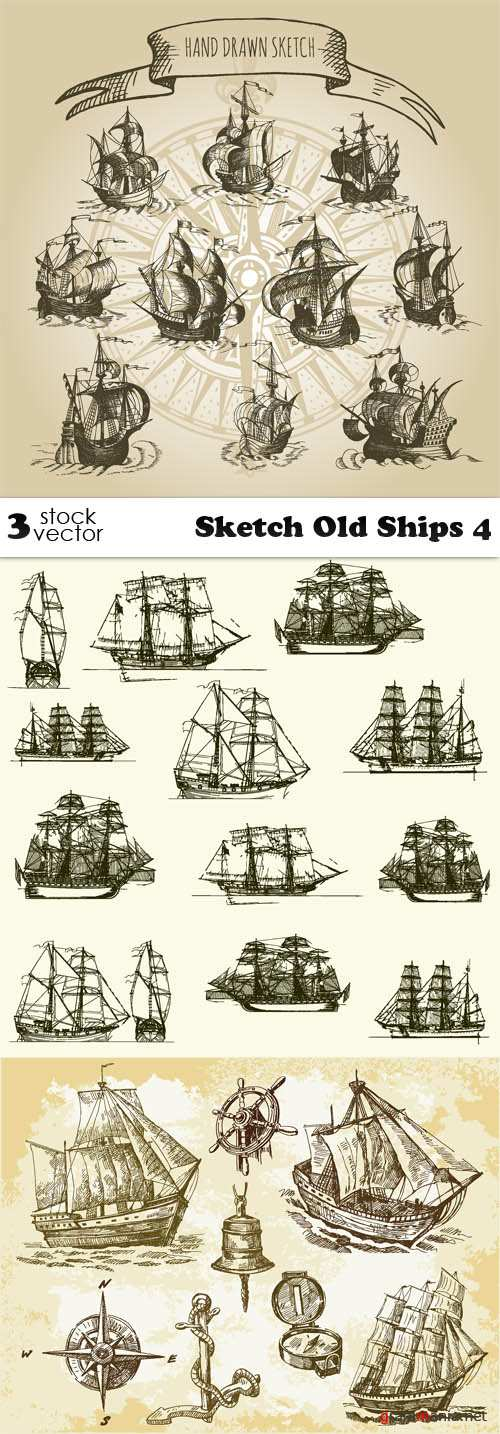 Vectors - Sketch Old Ships 4