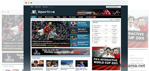 JoomShaper - Sportive v1.5.1 - Real Time Sports Template