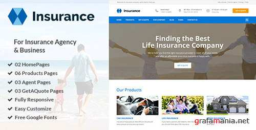 ThemeForest - Insurance v1.0 - Insurance Agency & Business PSD Template - 19195162