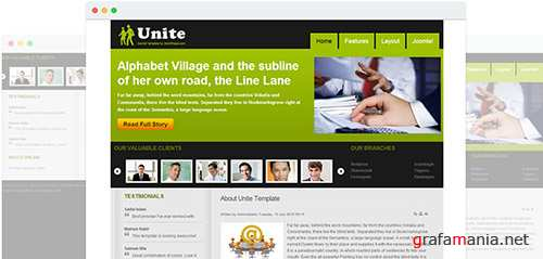 JoomShaper - Unite v1.5 - Simple Business Template