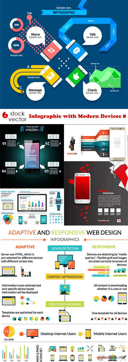 Vectors - Infographic with Modern Devices 8