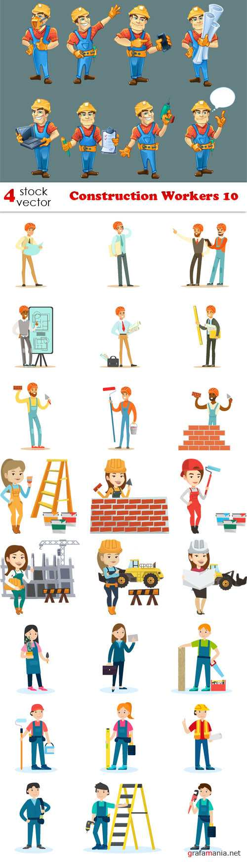 Vectors - Construction Workers 10