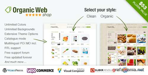 ThemeForest - Organic Web Shop v3.1 - An Organic and Responsive WooCommerce Food, Farn and Eco Theme - 9475703