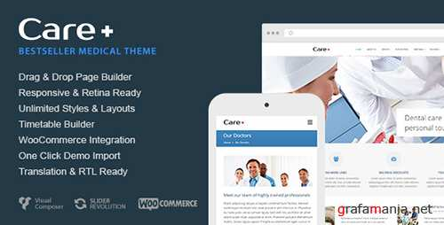 ThemeForest - Care v4.5.5 - Medical and Health Blogging WordPress Theme - 868243