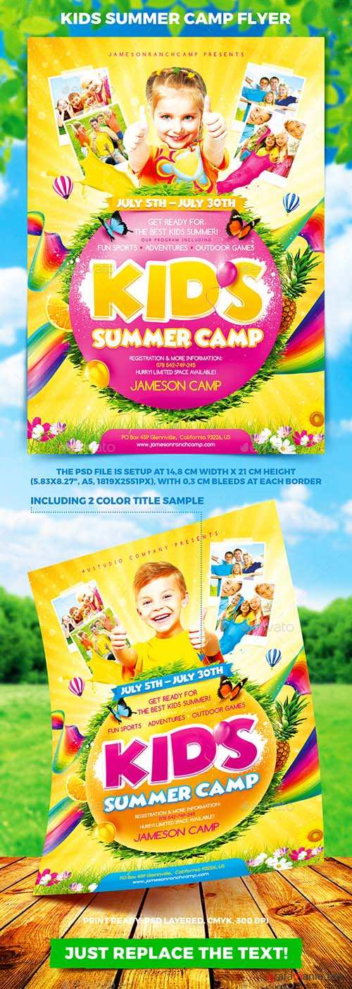 Kids Summer Camp Flyer 19761069