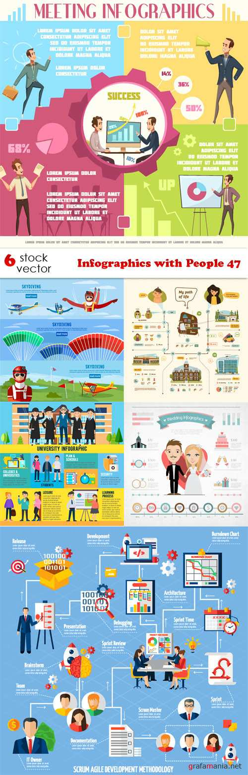 Vectors - Infographics with People 47