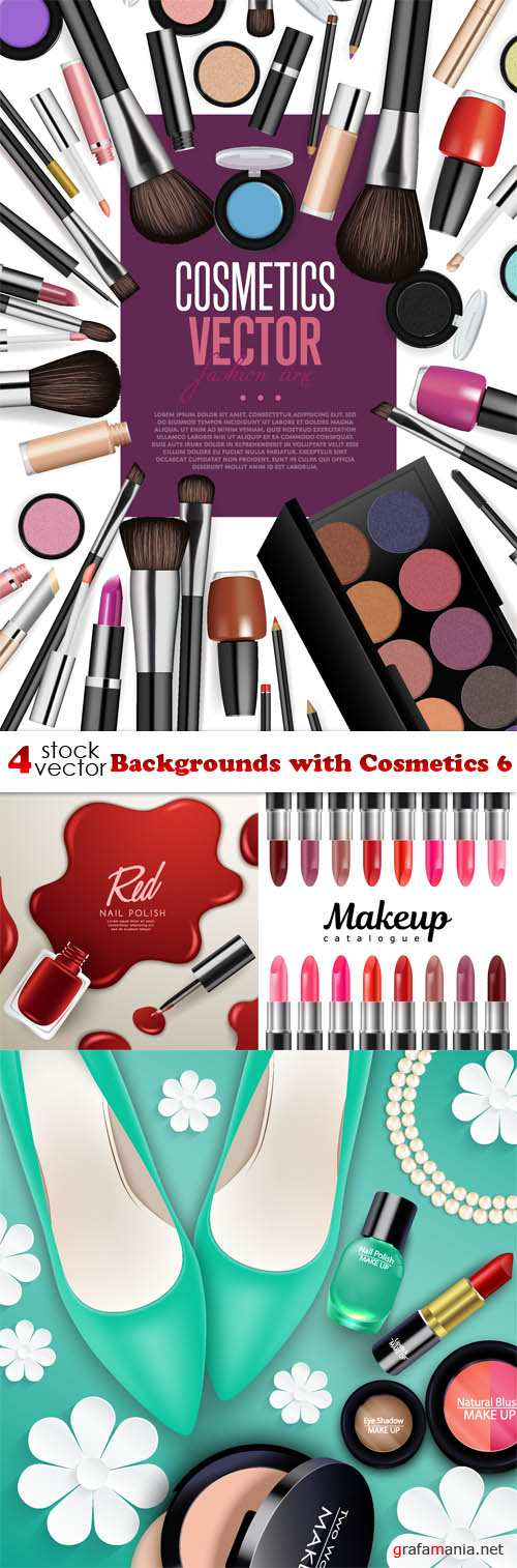 Vectors - Backgrounds with Cosmetics 6