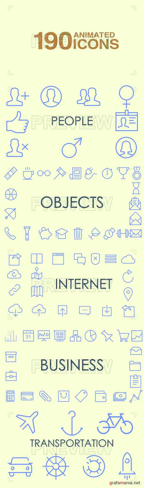 190 Animated Icons