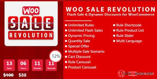 CodeCanyon - Woo Sale Revolution v3.0 - Flash Sale+Dynamic Discounts - 9855119