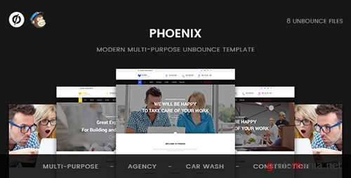 ThemeForest - Phoenix v1.0 - Multi-Purpose Unbounce Template - 19448017