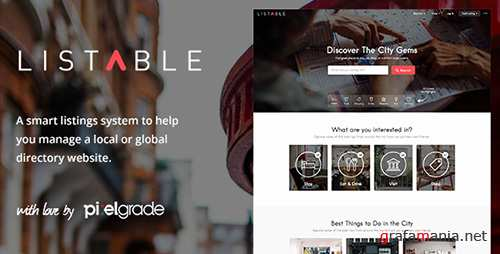 ThemeForest - LISTABLE v1.8.5 - A Friendly Directory WordPress Theme - 13398377