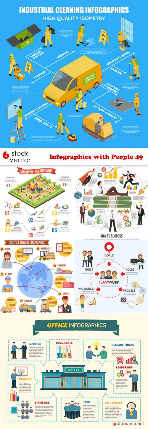 Vectors - Infographics with People 49